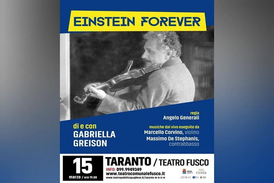 """""""EINSTEIN FOREVER"""": al Teatro Fusco la figura del più grande scienziato del '900"""