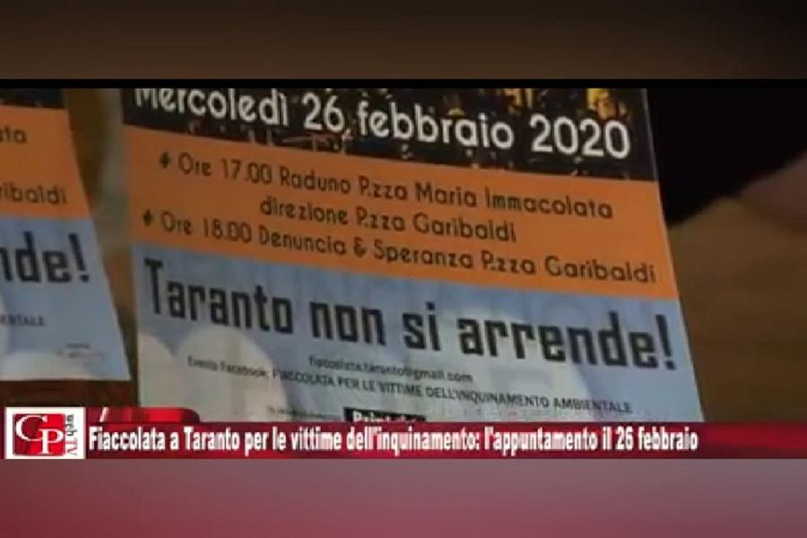 Fiaccolata per la salute e contro l'inquinamento: in piazza a Taranto il 26 febbraio