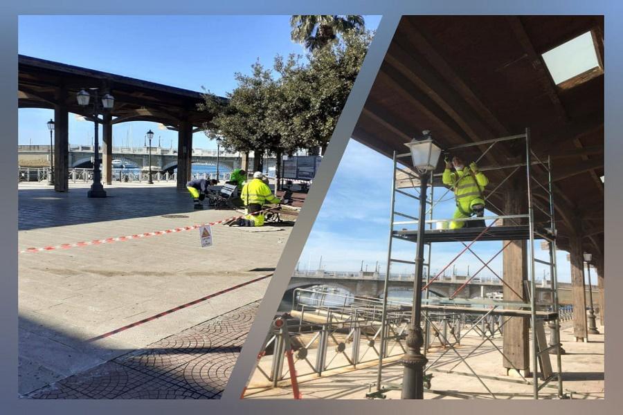 Taranto, pensilina liberty: lavori di manutenzione