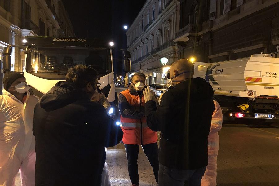 Taranto: partita la sanificazione delle strade