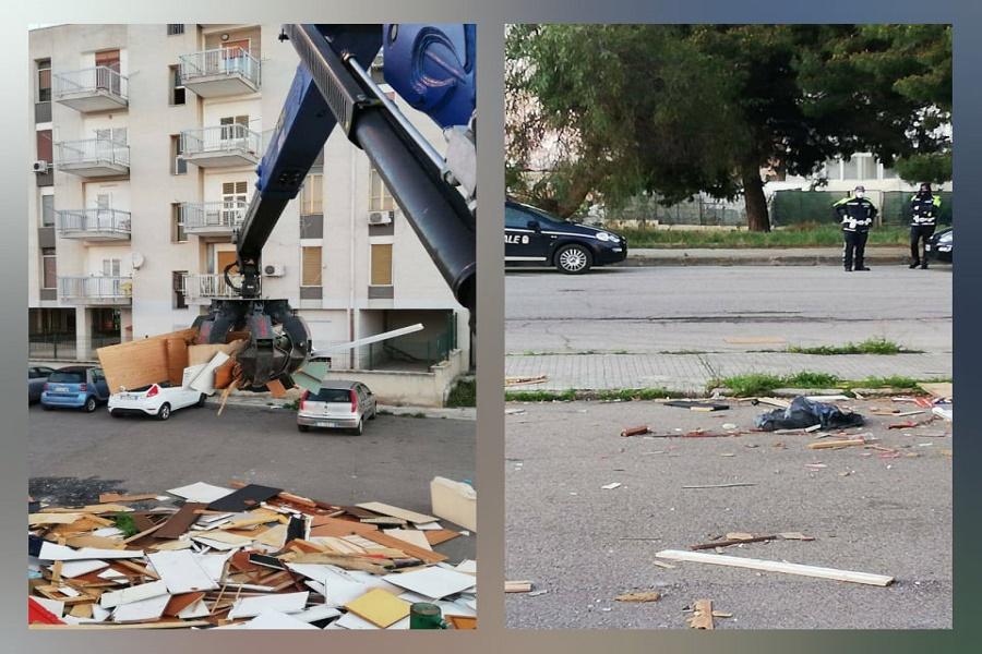 Taranto, falò abusivi: un altro intervento