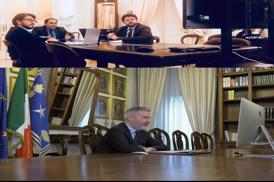 """Videoconferenza tra Melucci e il ministro della Difesa: """"Confronto proficuo"""""""