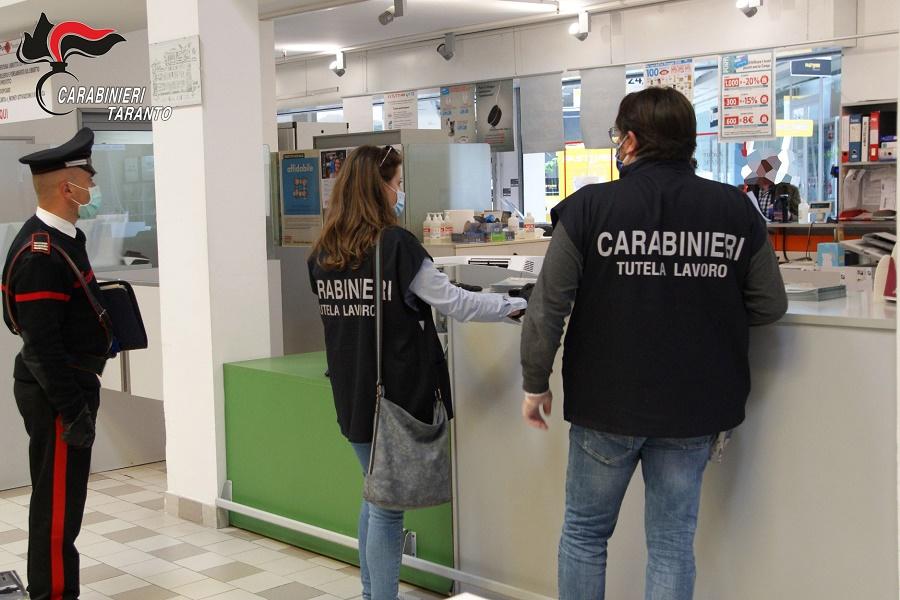 Taranto, emergenza Covid-19: i Carabinieri controllano le aziende