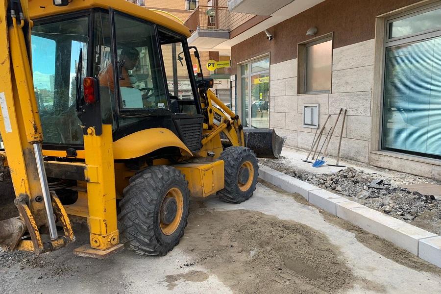 Taranto, apre il cantiere per il rifacimento di via Umbria