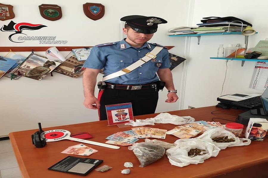 Castellaneta Marina: sorpresi con droga in un casolare