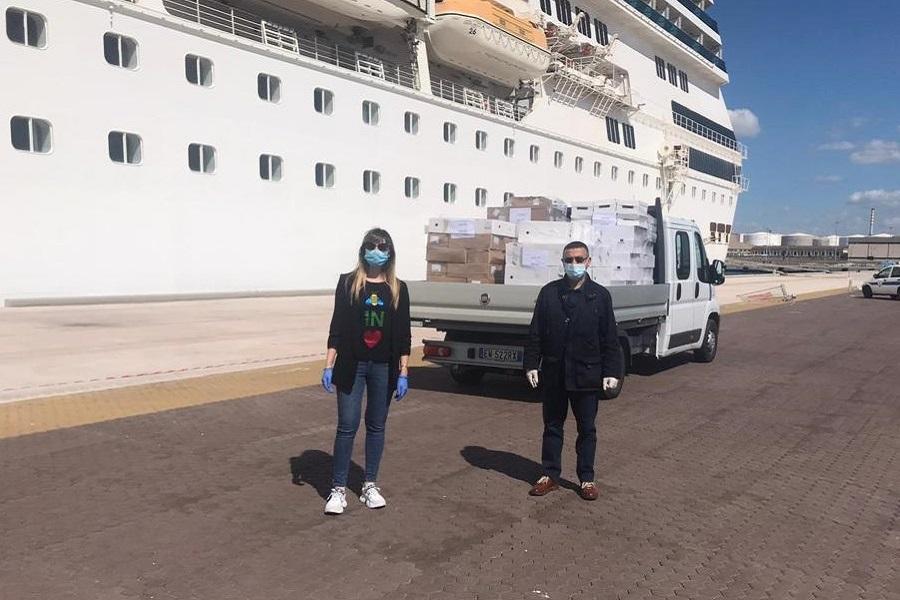 Costa Crociere dona 7 tonnellate di cibo ai tarantini in difficoltà