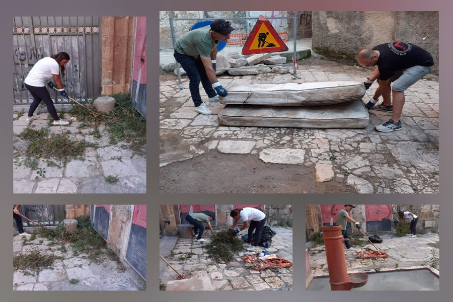 Volontari ripuliscono la Città vecchia