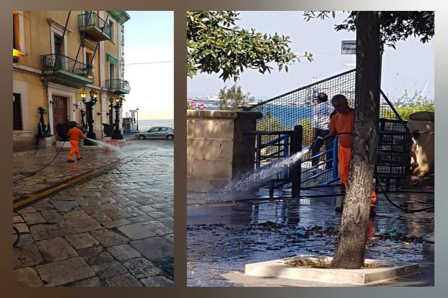 Lungomare Vittorio Emanuele III e Città Vecchia: interventi di pulizia