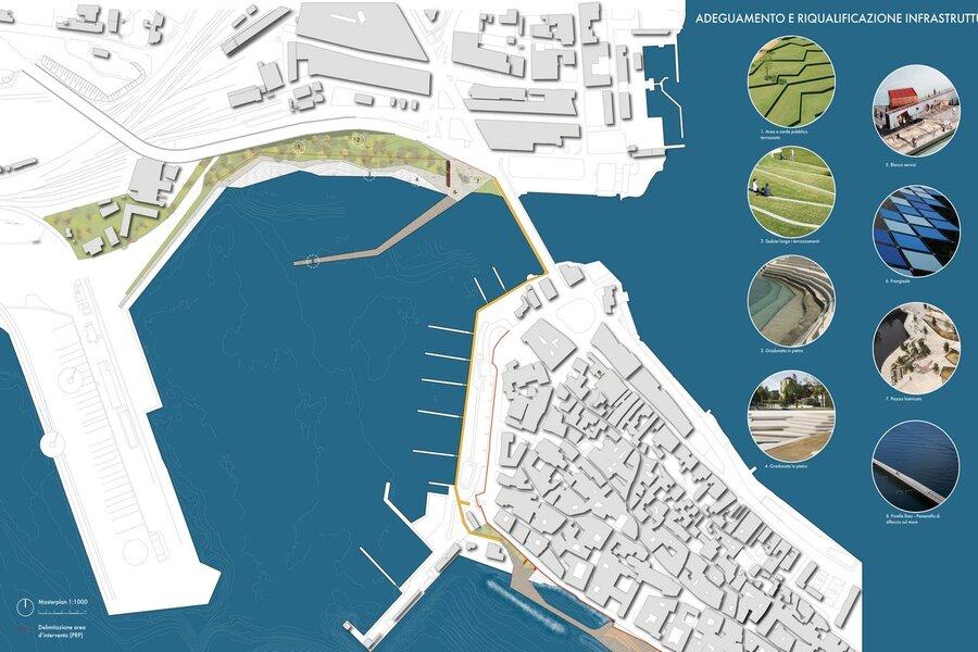 Taranto, riqualificazione del waterfront Mar Grande
