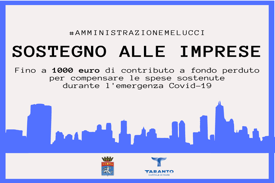 Taranto, Coronavirus: sostegno alle imprese. Oltre 600 le domande