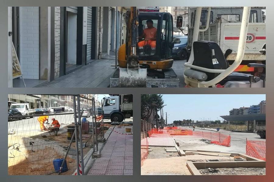 Taranto, proseguono lavori strade e marciapiedi