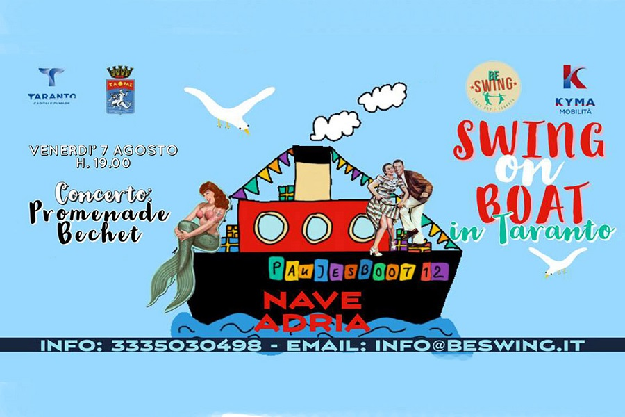 "Taranto, torna l'evento ""Swing on boat"""