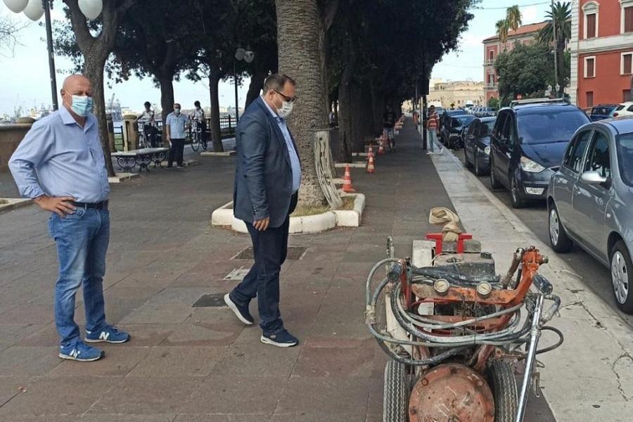 Taranto, parte cantiere per piste ciclabili