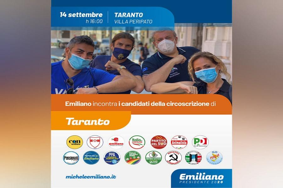 Taranto, Emiliano incontra i candidati di centrosinistra