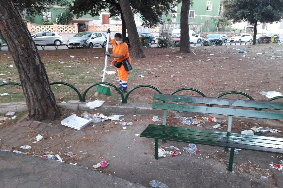 Taranto, interventi di pulizia nei quartieri Paolo VI, tamburi e Città Vecchia