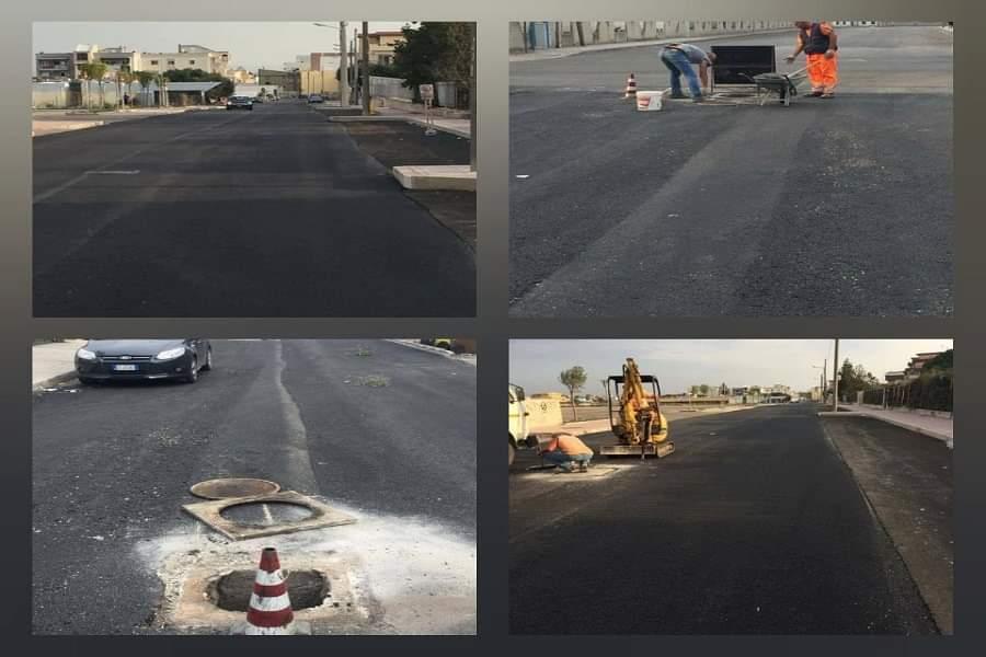 Taranto, via Cacace: asfalto provvisorio in attesa dei lavori Enel