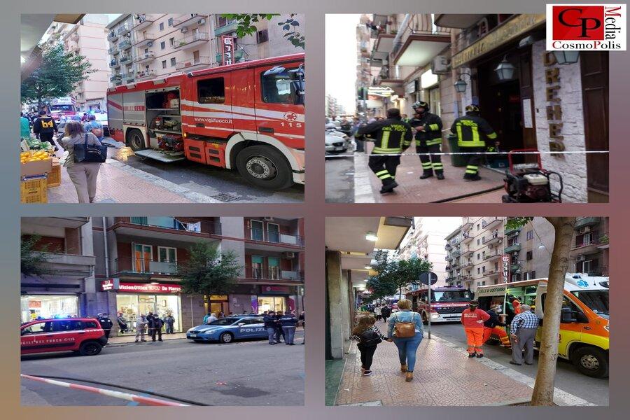 Taranto, via Cesare Battisti: pizzeria in fiamme