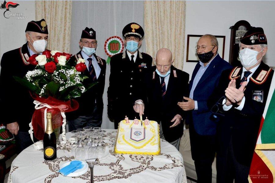 Mottola, ex Carabiniere compie 100 anni