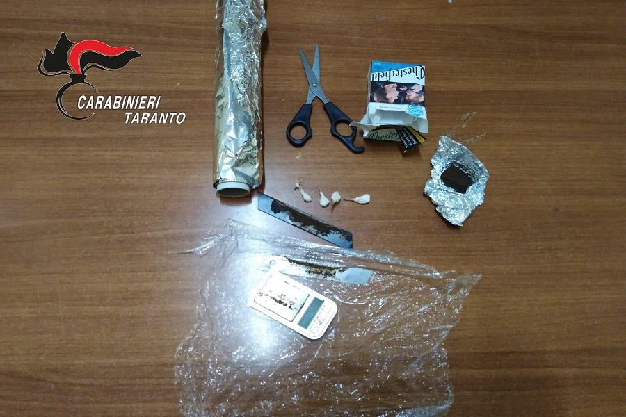 Taranto, spaccio di droga: arrestato 25 enne