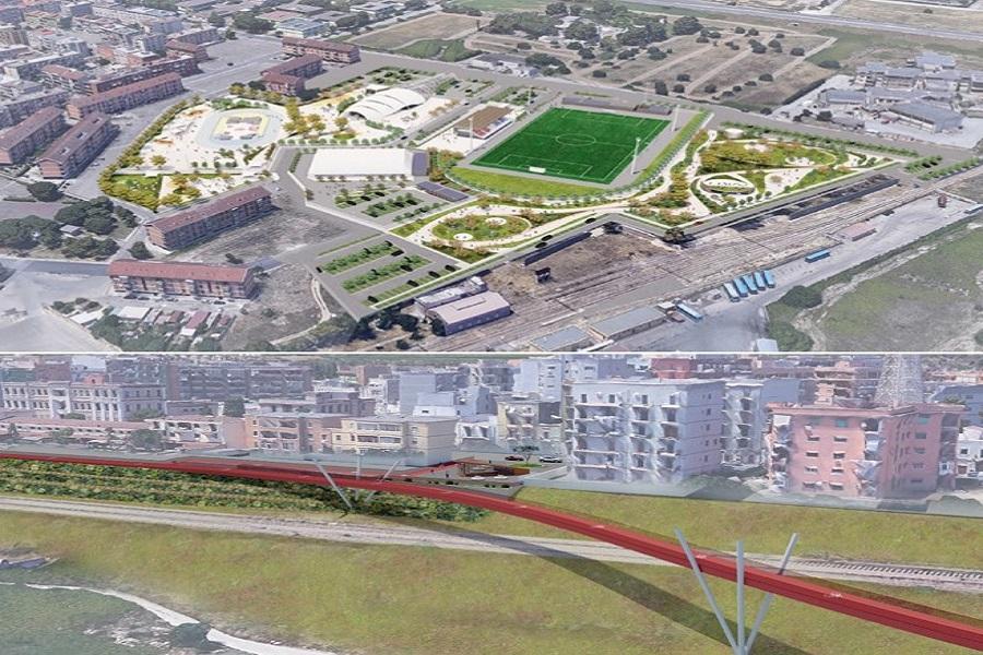 """Lungomare terrazzato e """"sport center"""": due progetti per i Tamburi"""