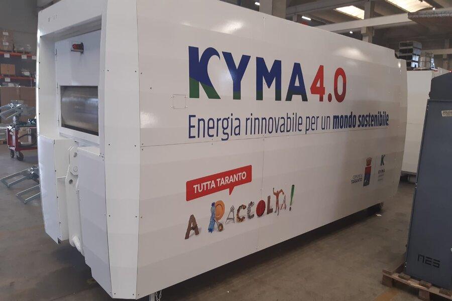 Taranto, compattatore fotovoltaico: raccolti altri 2mila chili di multimateriale