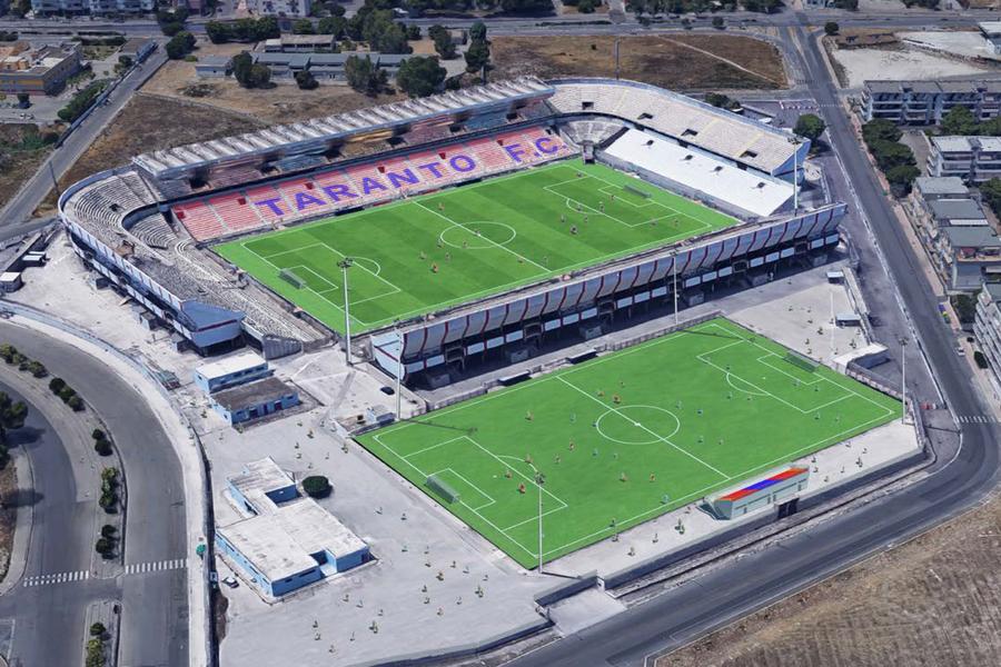 Taranto, campo B dello stadio Iacovone: concluso il contest