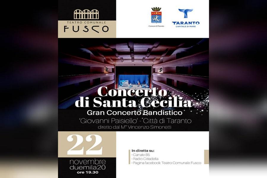 Santa Cecilia senza bande. Concerto al Fusco in diretta tv, radio e social