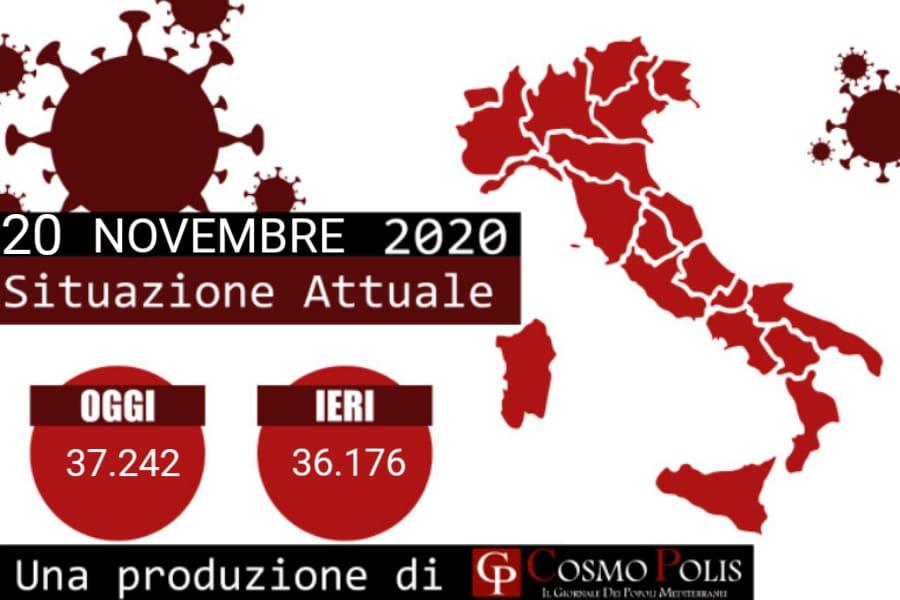 Covid, in Italia oggi 37.242 nuovi casi e 699 decessi